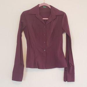 United Colors of Benetton Purple Maroon Shirt